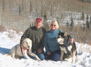 Peggy and Tod, Venus and Zeus along the West Elk Ski Trail