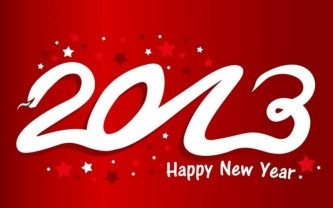 2013 Happy New Year banner